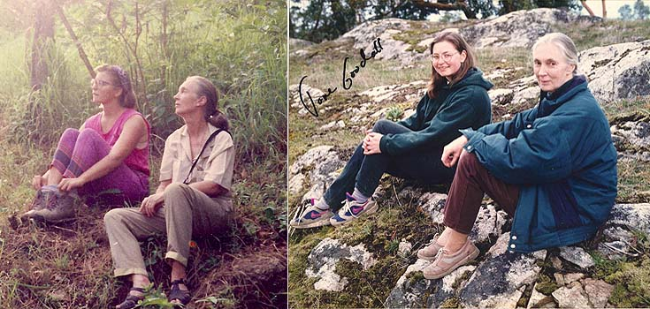 Haida Bolton and Jane Goodall